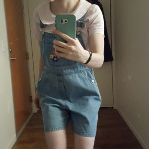 Vintage 90's Big Dogs Jean Overall Shorts